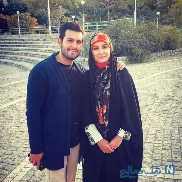 محمد منفردی و همسرش