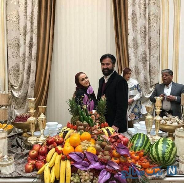 شب یلدای بهاره رهنما و همسرش
