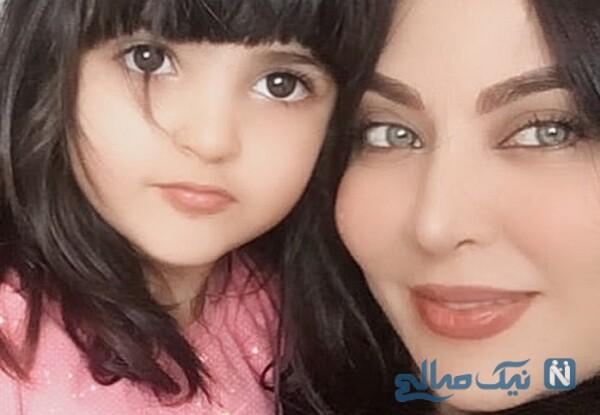تصویری از فقیهه سلطانی و دخترش گندم