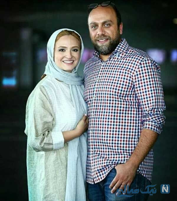 گلاره عباسی بازیگر معروف و همسرش