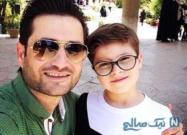 پویا امینی هنرپیشه معروف و پسرش