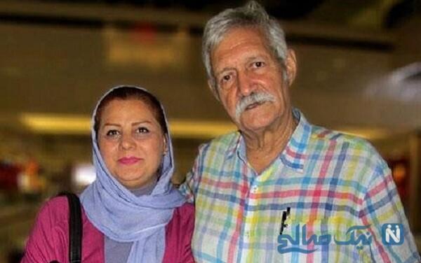 آتش تقی پور و همسرش شهین علیزاده