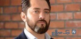بهرام رادان بازیگر فیلم گربه سیاه در کنار سگ ترسناکش