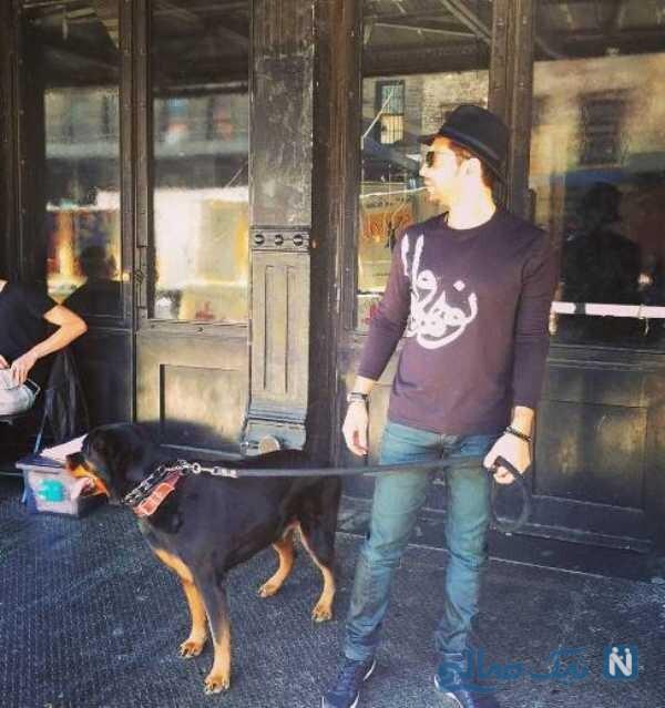 بهرام رادان و سگش