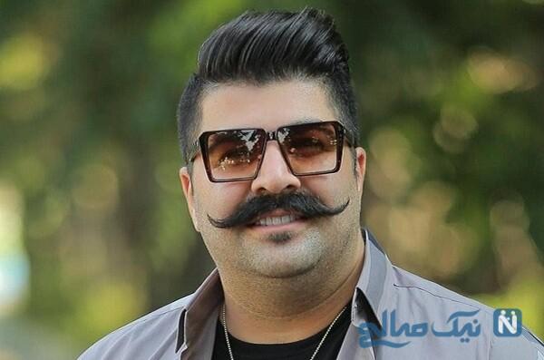 سلفی بهنام بانی خواننده پاپ با بازیگر معروف در باشگاه بدنسازی