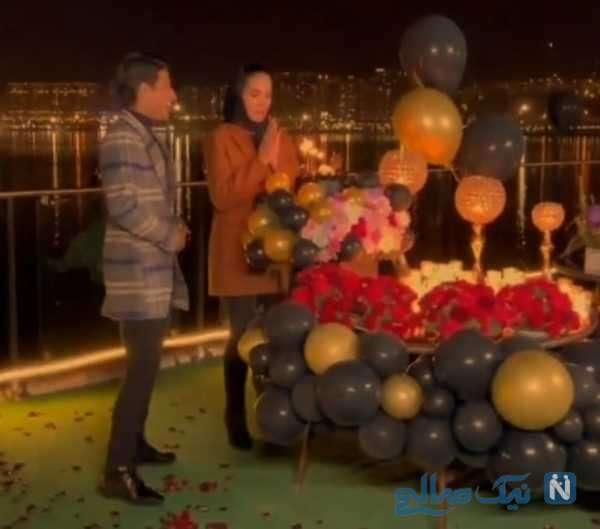 جشن تولد همسر مهدی قائدی