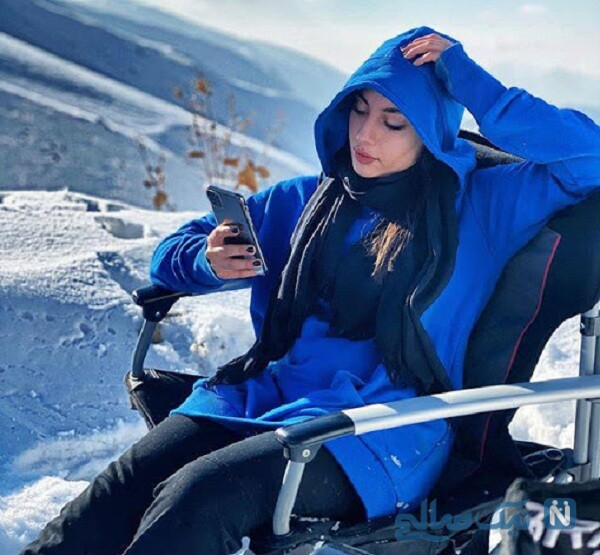 استایل زمستانی خانم بازیگر