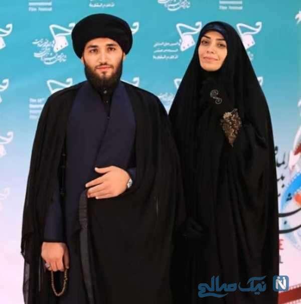 تصویری از الهام چرخنده و همسر روحانی اش