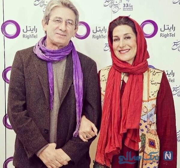 فاطمه معتمدآریا و همسرش حامد احمد