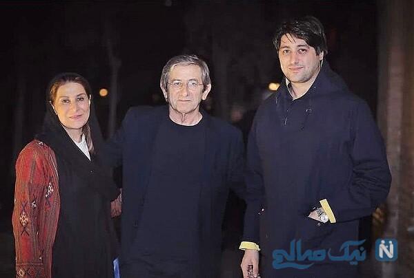 خانم بازیگر در کنار همسر و پسرش