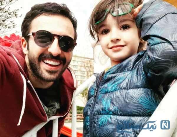 حسام محمودی فرید و دخترش هانا