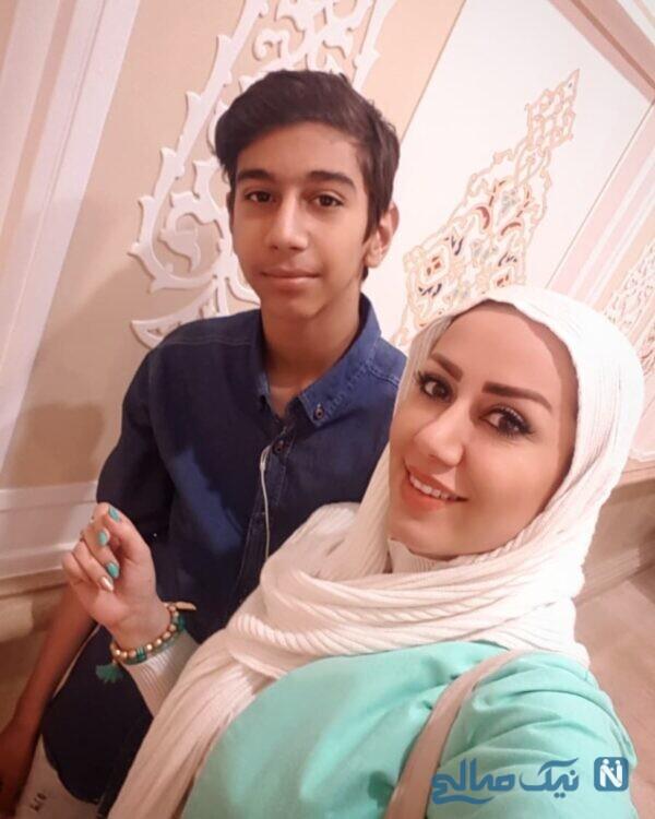 تصاویر مریم وطن پور و پسرش