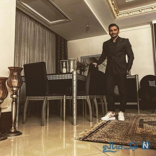 جواد کاظمیان در خانه لاکچری اش