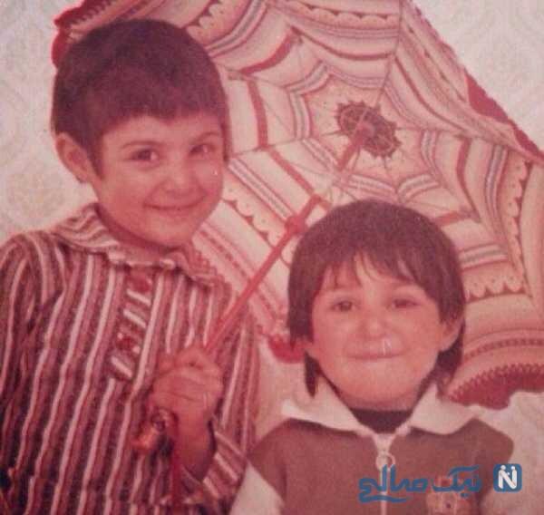 تصویری از لاله و ستاره اسکندری در کودکی