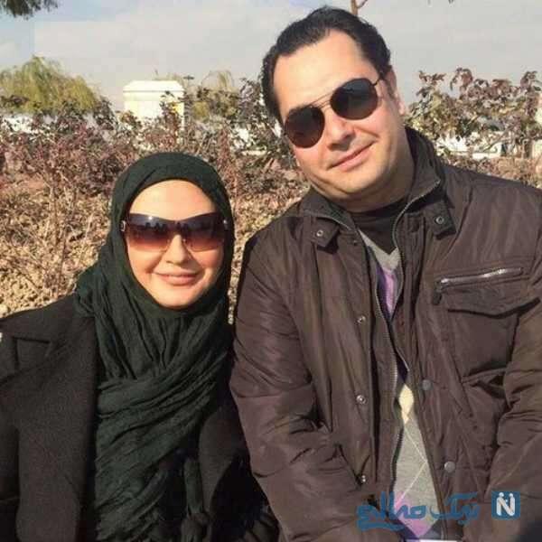 لعیا زنگنه در کنار همسرش