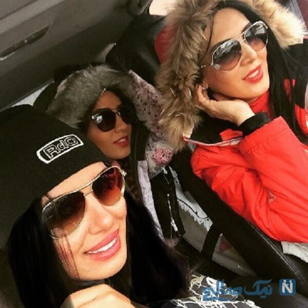 تصویری از لیلا بلوکات و دوستانش