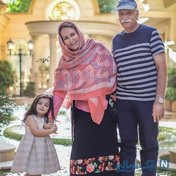 تصویری از محمود پاک نیت و خانواده اش