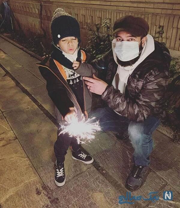 تفریح مجید صالحی با پسرش