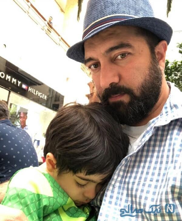 مجید صالحی و پسرش آروین