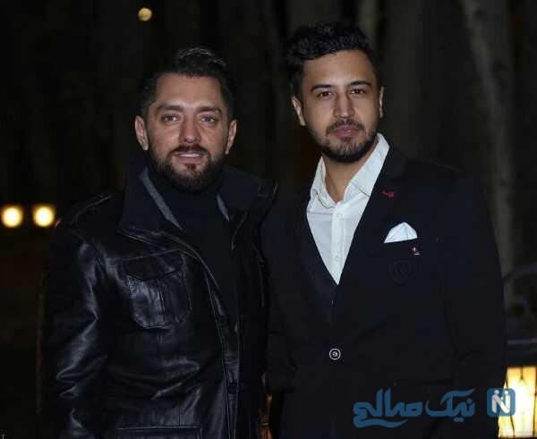 بهرام رادان در کنار بازیگر مشهور ایرانی