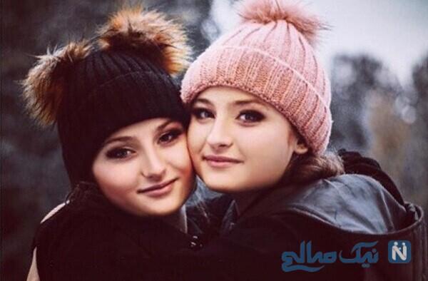 عکس سلفی جالب سارا و نیکای سریال پایتخت در کنار مادرشان
