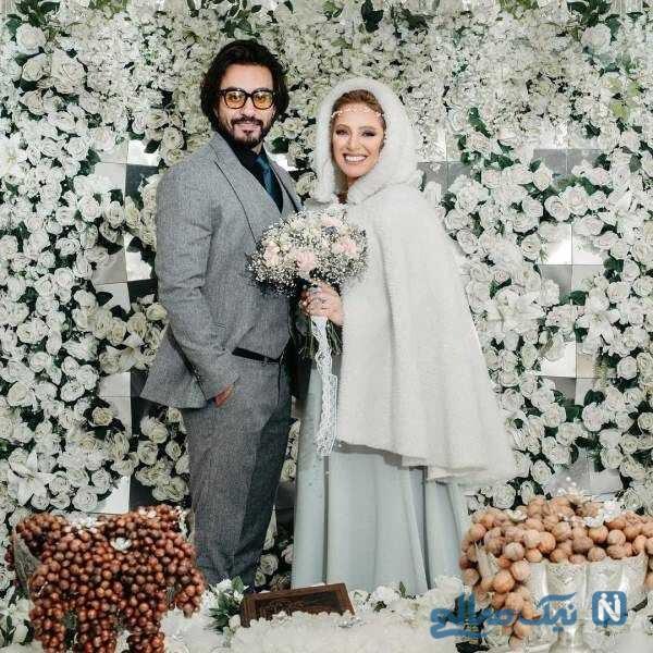 تصویری از نگین معتضدی و همسرش