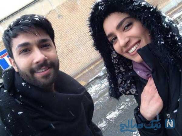 حسین مهری و خانم بازیگر
