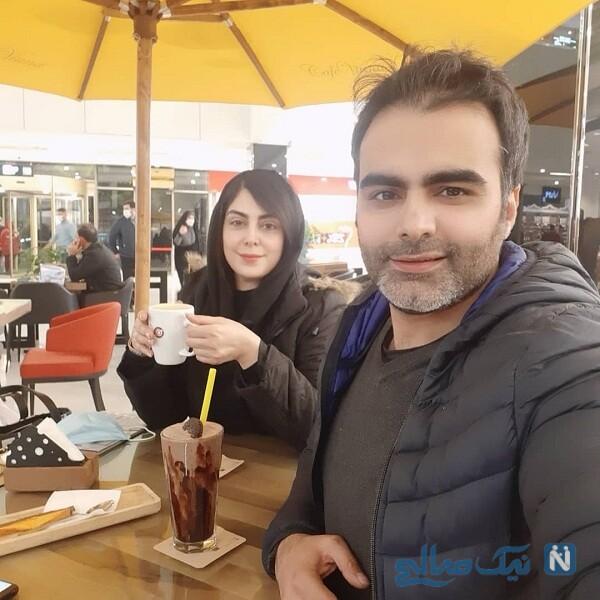 نیلوفر شهیدی و برادرش