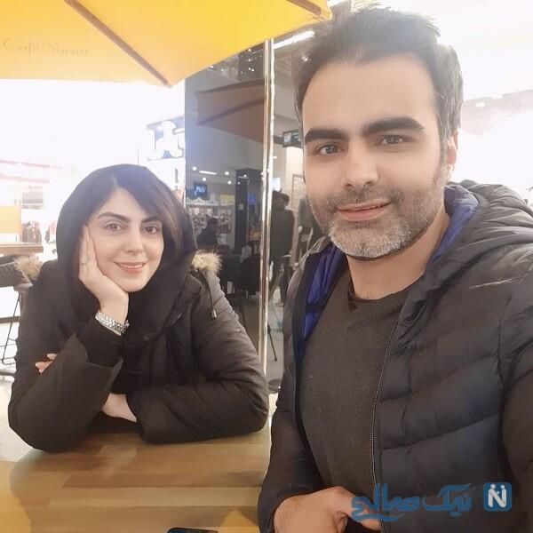 خانم بازیگر و برادرش در کافه