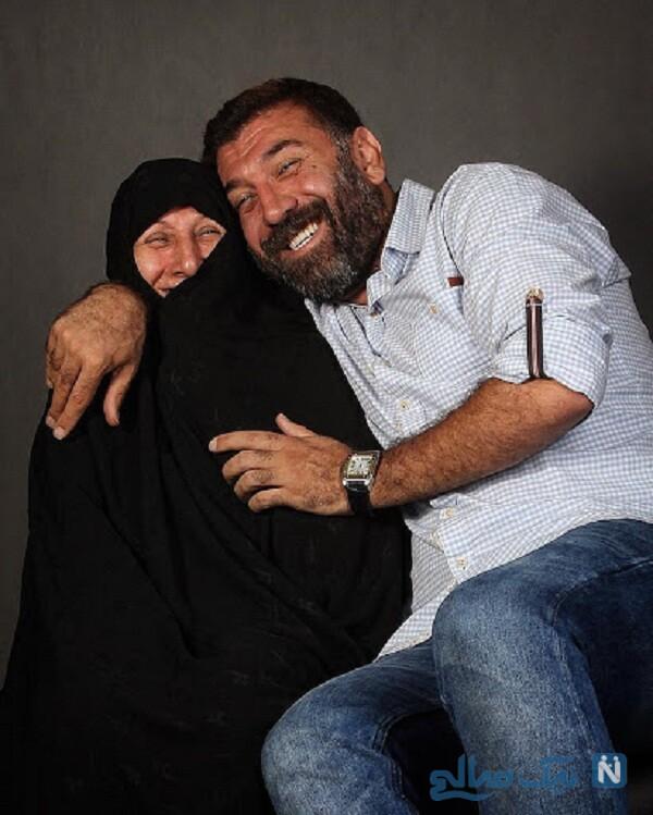 جالب ترین عکس علی انصاریان و مادرش