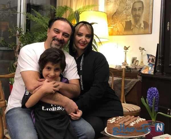 جدیدترین عکس برزو ارجمند و خانواده اش