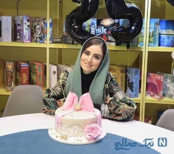 عکس جشن تولد هانیه غلامی بازیگر