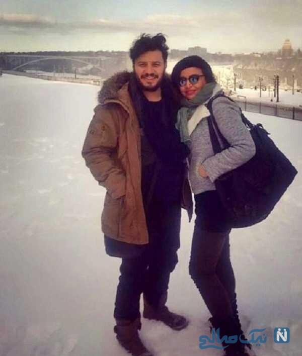 استایل زمستانی جواد عزتی و همسرش