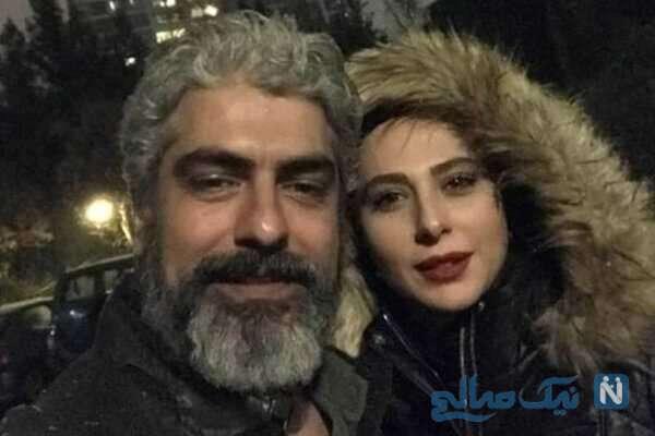 عکس مهدی پاکدل و همسرش رعنا آزادی ور