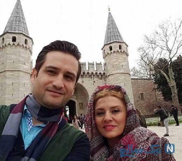 عکس پویا امینی و همسرش در خارج