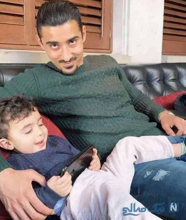 عکس رضا قوچان نژاد و فرزندش دوران