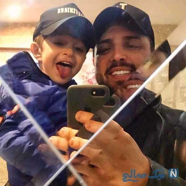 سلفی پدرام کریمی و پسرش