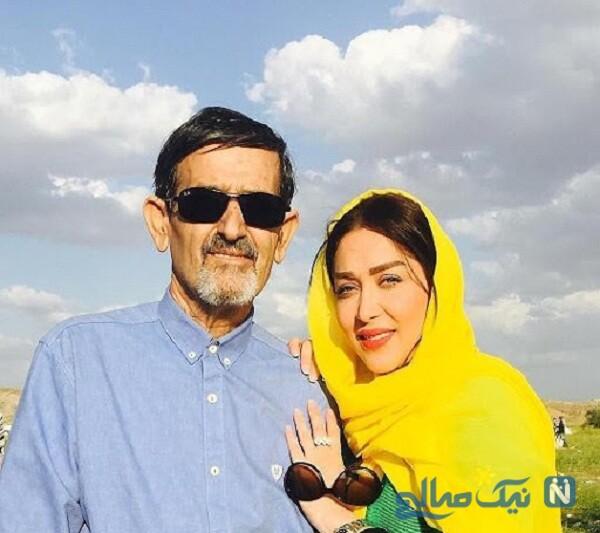 تصاویر سارا منجزی پور و پدرش
