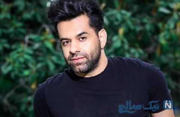 تیپ عجیب و غریب رضا بهرام خواننده پاپ در خیابان جنجال به پا کرد
