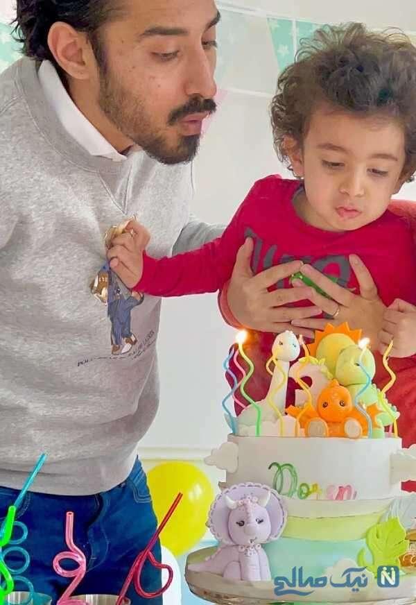 جشن تولد پسر رضا قوچان نژاد فوتبالیست