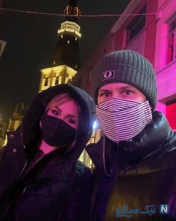 شاهرخ استخری و همسرش در بلژیک