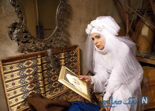 لباس عروسی روشنک عجمیان بازیگر