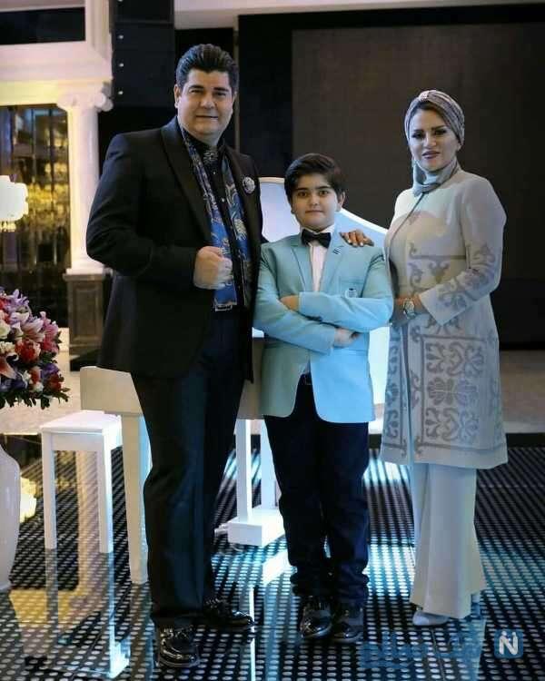تصویری از سالار عقیلی و خانواده اش
