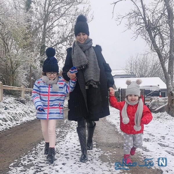 استایل زمستانی خانواده شاهرخ استخری