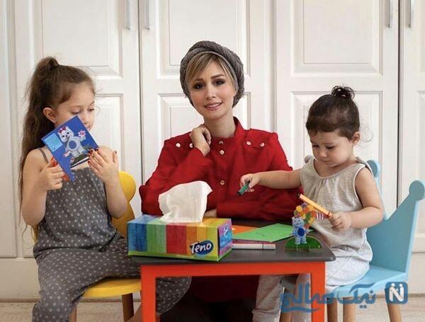 سپیده بزمی پور و دخترانش پناه و نبات