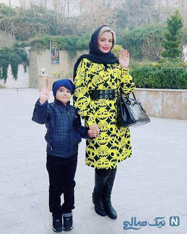 سپیده خداوردی به همراه پسرش سانیار
