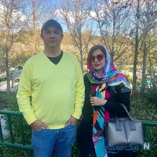 تصویری از شبنم قلی خانی و برادرش