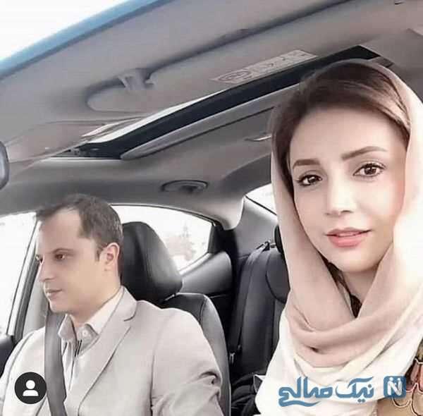 ماشین شخصی شبنم قلی خانی و همسرش