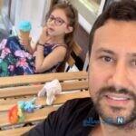 گردش شاهرخ استخری به همراه همسر و دخترانش در طبیعت زیبا
