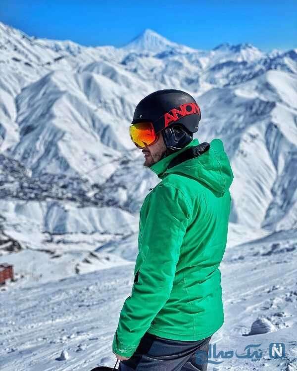 سیاوش خیرابی در پیست اسکی دربندسر